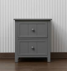 bedroom table ls set of 2 2 drawer bedside table grey
