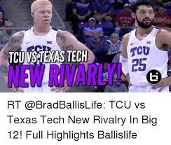 Texas Tech Memes - tcu texas tech tcu 25 rt tcu vs texas tech new rivalry in big 12