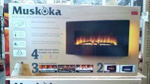 Fire Sense Electric Fireplace - chimney free wall mount electric fireplace costco fire sense
