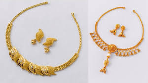 beautiful gold necklace set images Latest stylish simple gold necklace sets for women latest jpg