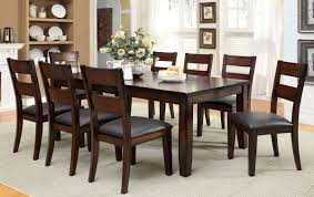 dining table set transitional style 9 pcs dark cherry finish