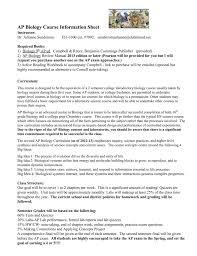 ap biology course information sheet