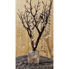 Tree Centerpieces Bling Manzanita Tree Centerpiece Natural Color With Glitter