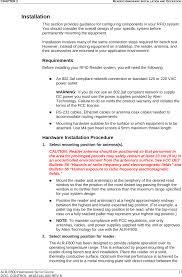 alrf800b rfid reader cover letter setup guide alien technology llc