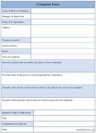 free customer complaint form template sample customer complaint