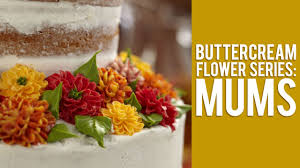 buttercream flower series how to make mums youtube