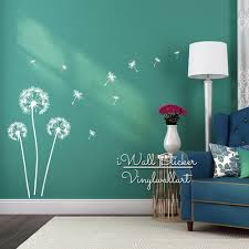 wall gold star wall decals dandelion wall decal peel and
