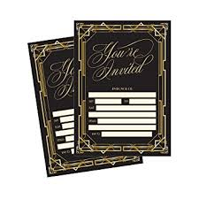 gatsby wedding invitations 50 fill in invitations great gatsby wedding
