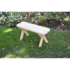 pressure treated pine cross leg bench