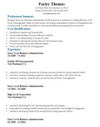 Sample Business Administration Resume by 16 Free Sample Business Administration Resumes U2013 Sample Resumes 2016