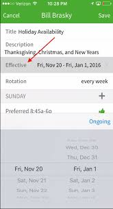 define thanksgiving editing an employee u0027s availability preferences u2013 when i work help
