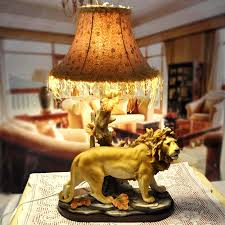 Large Table Lamps For Living Room Living Room Lion Statue Table Lamp Ornament Natural Tree Shaped