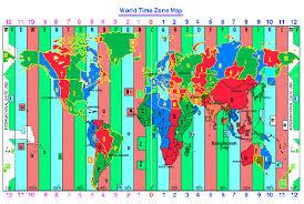 utc zone map map of standard zones