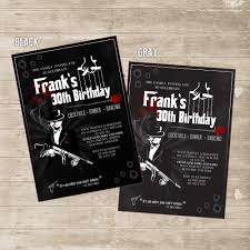 30th Birthday Invitation Cards Mafia Invitation Mobster Gangster Mob Invite For Men Godfather