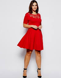 red cocktail dress plus size dress yp