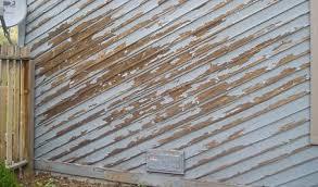 Exterior House Painting Preparation - preparing rough sawn lumber for repainting