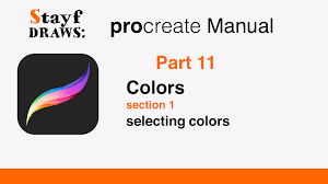 procreate tutorial part 11 color selecting colors youtube
