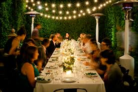 dinner party lights taper candles table top com 300 warm white