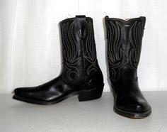 womens size 12 black cowboy boots vintage black rockabilly cowboy boots size 9 5 d or womens size 11