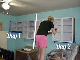 backsplash can you paint over veneer kitchen cabinets how to