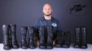 best leather motorcycle boots adventure touring boot buying guide from jafrum com youtube