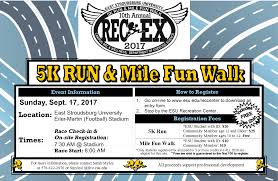 Esu Map Rec Ex 5k And 1 Mile Walk