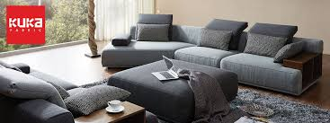 Kuka Fabric Sofas Modern  Scandinavian Designs PicketRail - Cloth sofas designs