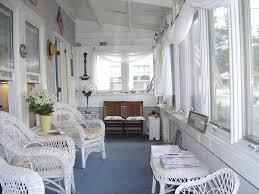 exterior elegant enclosed front porch decoration using white