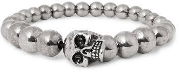 bracelet skull beads images Alexander mcqueen skull silver tone beaded bracelet where to buy jpg