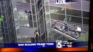 Trump Tower Nyc by Man Climbs On Trump Tower In New York Youtube