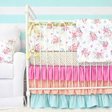 Bright Crib Bedding S Bright Boho Floral Crib Bedding Caden