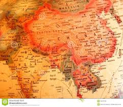 Thailand On World Map by India China Thailand On The Globe Royalty Free Stock Images