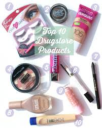 top 10 drugstore beauty products beauty blogger top ten tuesday