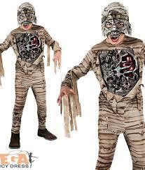 Kids Mummy Halloween Costume Scary Mummy Light Boys Fancy Dress Halloween Childs Costume