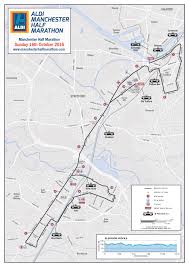 Emirates Route Map by Event Preview 2016 Aldi Manchester Half Marathon Breathe Unity