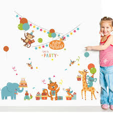 online get cheap birthday party wall decals aliexpress com