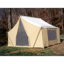 Tent Cabin by Trek Tents 10 X 14 U0027 Canvas Cabin Tent Khaki 93359 Backpacking