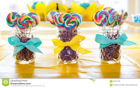 lollipops in jars with bow ribbons stock photo image 88372189
