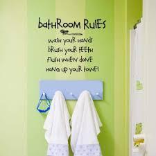 Vinyl Walls For Bathrooms Bathroom Rules Kids Bathroom Vinyl Wall Lettering Decal
