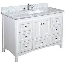Kitchen Bath Collection KBCWTCARR Bella Bathroom Vanity With - Bella 48 inch bathroom vanity white