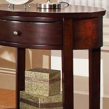 Espresso Accent Table Oxford Creek Sienna Oval Espresso Accent Table Nightstand Medium
