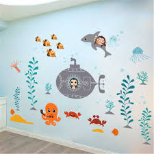 Bathroom Art Decor by Beautiful Design Dolphin Fish Sea Wall Sticker Diy Removable Kids