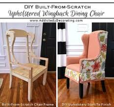 How To Do Upholstery Diy Wingback Dining Chair U2013 How To Build The Chair Frame Dining
