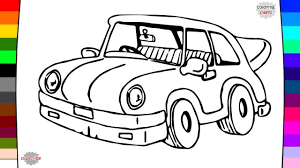 kid car drawing car coloring page for kids drawing and coloring youtube