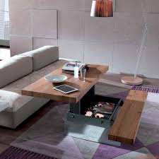 transformable furniture markus two height transformable coffee table in metal 140x90 cm