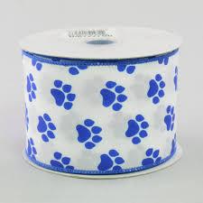 paw print ribbon 2 5 satin paw print ribbon blue white 10 yards rg1777wr