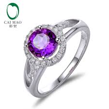 amethyst engagement rings compare prices on amethyst diamond engagement rings online