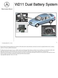mercedes dual bat system battery electricity relay