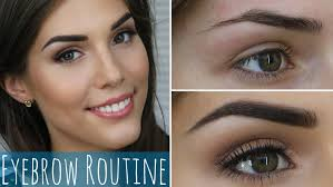 my eyebrow routine how to groom and fill in dark eyebrows youtube