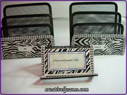 Zebra Desk Accessories Office Blingcreatively Sam S